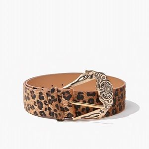 Leopard Print wide waist belt